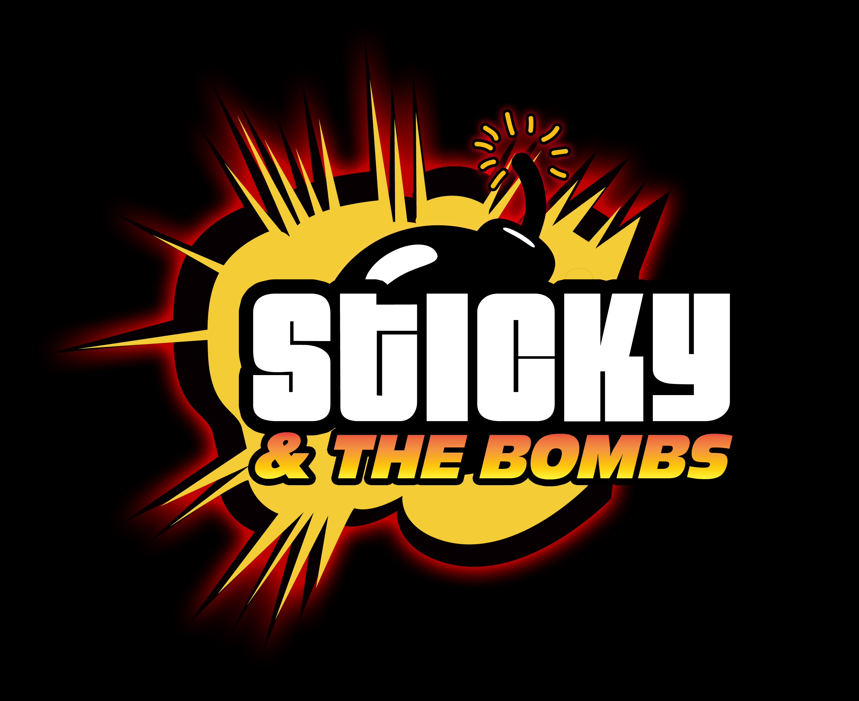 Sticky & the Bombs liten text 02